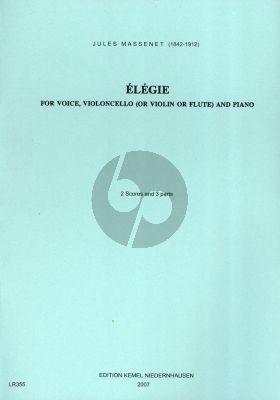 Massenet Elegie Des Erinnyes fur Singstimme, Violoncello oder Violine / Flöte und Klavier