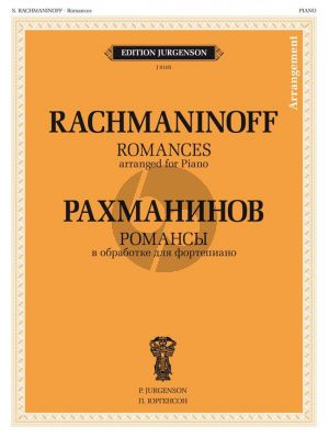 Rachmaninoff Romances arranged for piano (arr. V. Samarin)