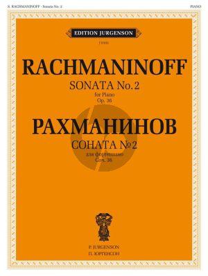Rachmaninoff Sonata 2 Op.36 Piano Solo (original version)