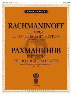 Rachmaninoff Liturgy of St.John Chrysostom Op.31 SATB