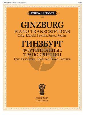 Grigory Ginzburg - Piano Transcriptions