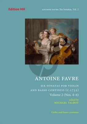 Favre 6 Sonatas Vol. 2 No. 4 – 6 Violin and Bc (edited by Michael Talbot)