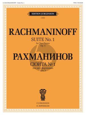 Rachmaninoff Fantaisie-tableaux Op.5 2 Pianos 4 Hands (Suite No. 1)