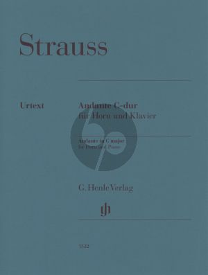 Strauss Andante C major for Horn and Piano
