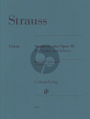 Strauss Violin Sonata E flat major op. 18