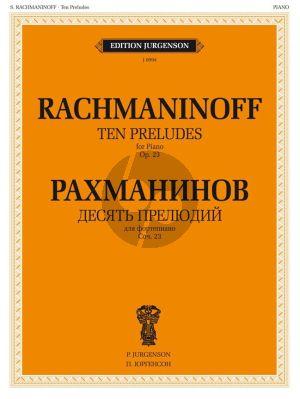 Rachmaninoff 10 Preludes Op.23 Piano solo