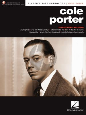 Cole Porter Singer's Jazz Anthology High Voice (with Recorded Piano Accompaniments Online)