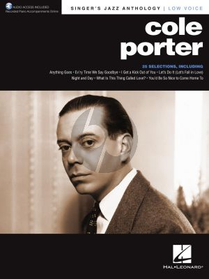 Cole Porter Singer's Jazz Anthology Low Voice (with Recorded Piano Accompaniments Online)