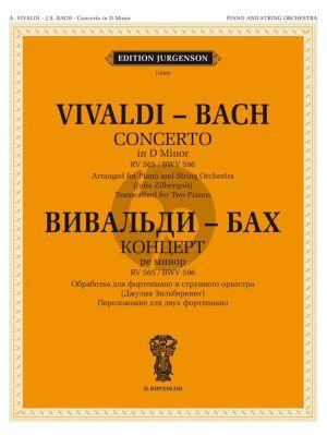 Vivaldi-Bach Concerto in d RV 565 / BWV 596 for 2 Piano's (Arr. Julia Zilberquit)