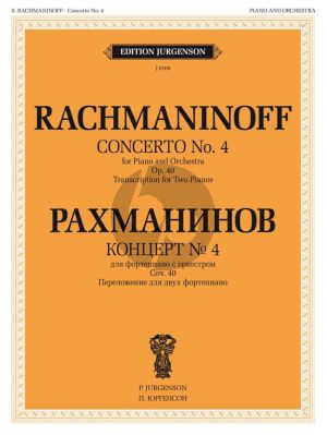 Rachmaninoff Concerto No.4 Op.40 g-minor Red. for 2 Piano's (Piano-Orch.)