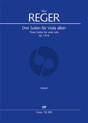 Reger 3 Suiten Op. 131d Viola solo (Jürgen Schaarwächter)