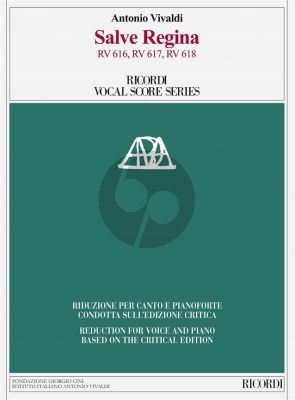 Vivaldi Salve Regina RV 616, RV 617, RV 618 Vocal Score