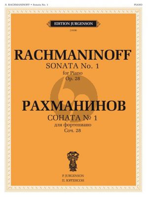 Rachmaninoff Sonata No.1 Op.28 d-minor Piano Solo