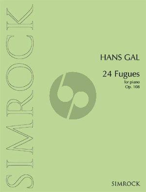 Gal 24 Fugues Op. 108 Piano solo