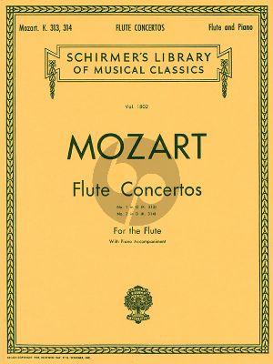 Mozart Flute Concertos KV 313 and KV 314 Flute and Piano