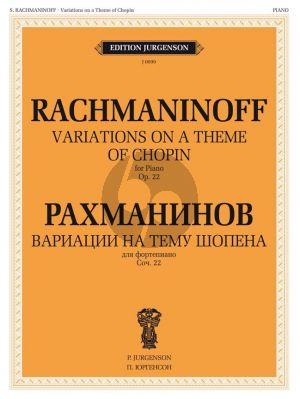 Rachmaninoff Variations on a theme of Chopin Op.22 Piano