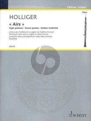 Holliger Airs 7 Poems for Oboe and Cor Anglais