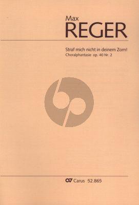 """Reger Choralphantasie """"Straf mich nicht in deinem Zorn"""" Op. 40 No. 2 Orgel"""