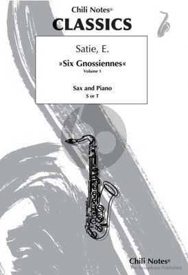 Satie Six Gnossiennes Vol.1 for Alto or Soprano/Tenor Sax with Piano (Arranged by Thomas Peter-Horas)