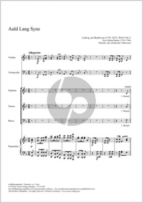 Beethoven Auld Lang Syne STB, Violin, Violoncello Piano Fullscore (Op. WoO 156,11, 2018)