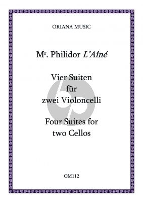 Danican-Philidor Vier Suites for 2 Violoncellos (2 playing scores) (edited by Johanna and Richard Carter)