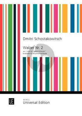 Walzer Nr. 2 aus Suite fur Variete Orchester fur Blockflotenorchester Partitur (Bearbeiter Irmhild Beutler / Sylvia Corinna Rosin)
