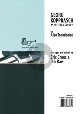 Kopprasch Studies for Alto Trombone (edited by Eric Crees and Ian Rae)