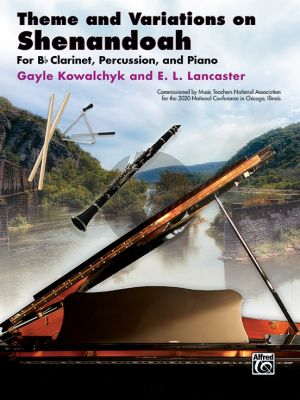 Theme and Variations on Shenandoah B-flat Clarinet, Percussion and Piano