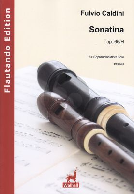 Caldini Sonatina Op. 65/H Sopranblockflöte solo