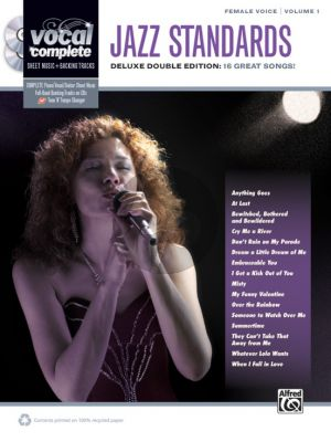 Album Female Voice Jazz Standards Vocice and Piano (Book wit 2 Cd's)