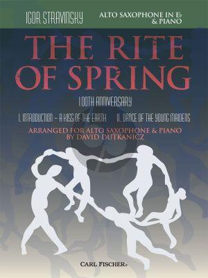 Strawinsky The Rite of Spring Alto Saxophone and Piano (100th. Anniversary) (arr. David Dutkanicz)
