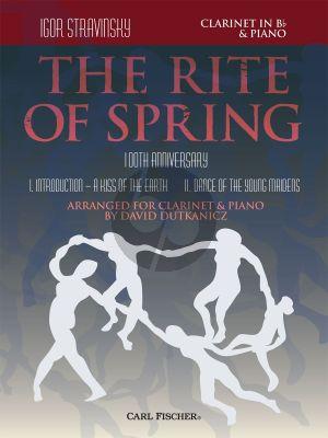 Strawinsky The Rite of Spring Clarinet and Piano (100th. Anniversary) (arr. David Dutkanicz)