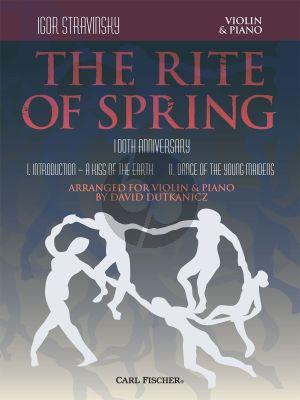 Strawinsky The Rite of Spring for Violin and Piano (100th. Anniversary) (arr. David Dutkanicz)