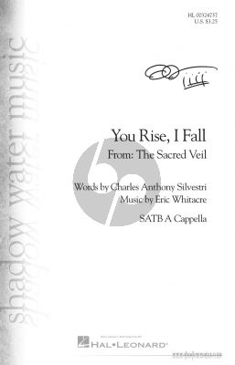 Whitacre You Rise, I Fall SATB (from The Sacred Veil)
