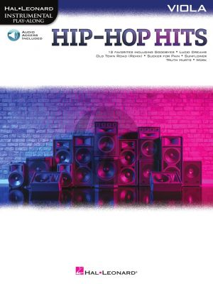 Hip-Hop Hits Instrumental Play-Along for Viola (Book with Audio online)