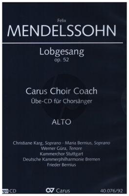 Mendelssohn Lobgesang - Symphonie-Kantate Op.52 MWV A18 Alt Chorstimme CD (Carus Choir Coach)