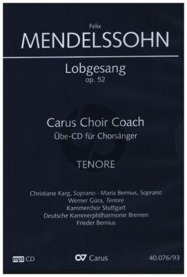 Mendelssohn Lobgesang - Symphonie-Kantate Op.52 MWV A18 Tenor Chorstimme CD (Carus Choir Coach)