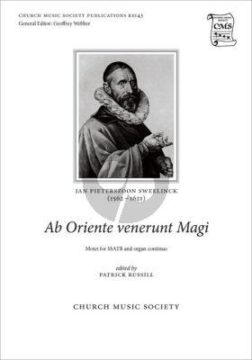 Sweelinck Ab Oriente venerunt Magi SSATB and Organ (edited by Patrick Russill)