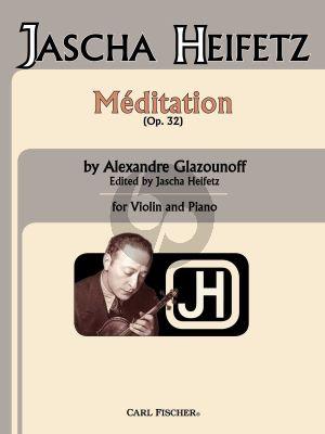 Glazunov Meditation Op. 32 Violin and Piano (edited by Jascha Heifetz)
