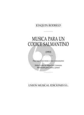 Rodrigo Musica Para Un Codice Salmantino SATB and Piano