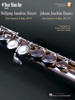 Mozart Flute Concerto No. 2 in D Major, K. 314 and Quantz Concerto in G Major (Book with Online Audio) (MMO)