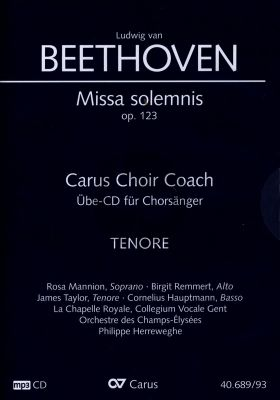 Missa Solemnis D-dur Op.123 Tenor Chorstimme CD