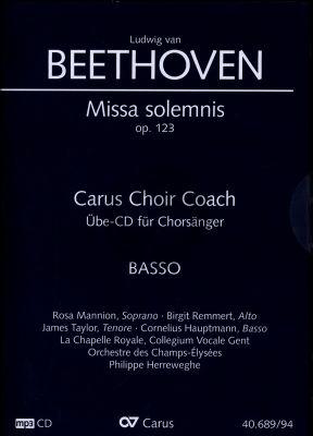 Beethoven Missa Solemnis D-dur Op.123 Bass Chorstimme CD (Carus Choir Coach)