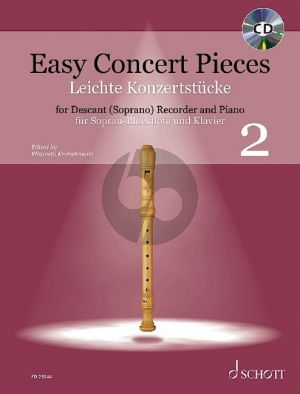 Easy Concert Pieces Vol. 2 Descant Recorder and Piano (24 Pieces from 5 Centuries - Book with CD) (edited by Elisabeth Kretschmann)