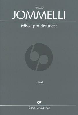 Jommelli Missa pro defunctis (Requiem) SATB soli-SATB-2 Vi.-2 Va.-Bc Klavierauszug (Herausgegeben von Julia Rosemeyer) (Klavierausszug von Hans Schroder)