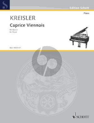 Kreisler Caprice Viennois Op. 2 Piano solo