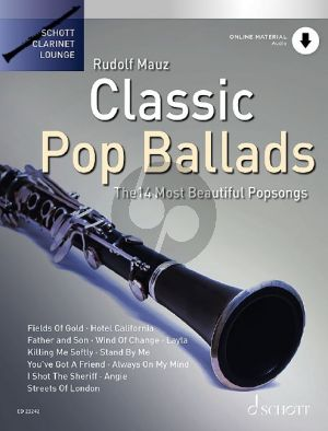 Classic Pop Ballads for Clarinet and Piano (14 Most Beautiful Popsongs) (Book with Audio online) (edited by Rudolf Mauz and Dirko Juchem)