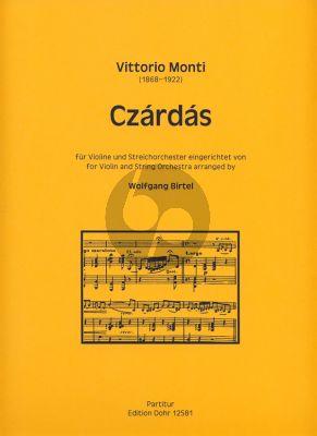 Czardas Violine und Streichorchester Partitur