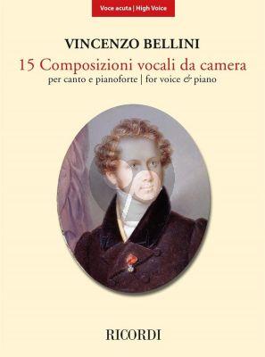 Bellini 15 Composizioni vocali da camera High Voice