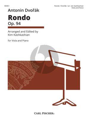 Dvorak Rondo Op. 94 Viola and Piano (transcr. by Kim Kashkashian)
